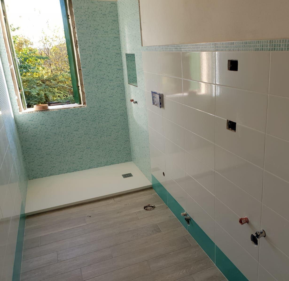Rivestimento Bagno Con Maioliche il bagno verde acqua: piastrelle colorate moderne - foly