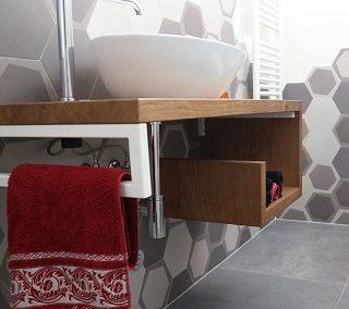 La casa di K&S: piastrelle esagonali