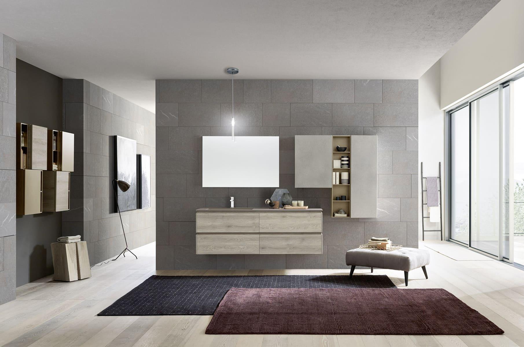 Armadietto Bagno Moderno bagno moderno grigio: come abbinare pavimenti e rivestimenti