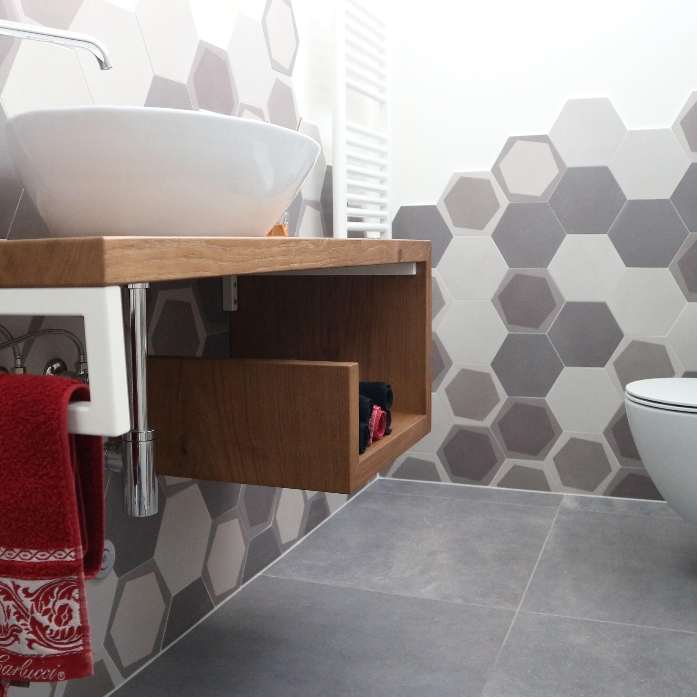 Piastrelle Decorative Per Tavoli piastrelle cementine: idee per decorare bagno e cucina