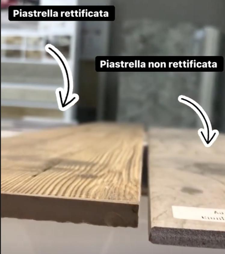 confronto tra piastrelle in gres porcellanato rettificato e non