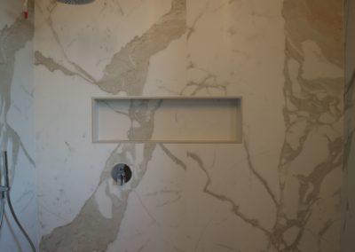 nicchia doccia in gres effetto marmo